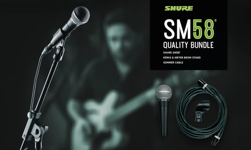 The Shure all-inclusive package