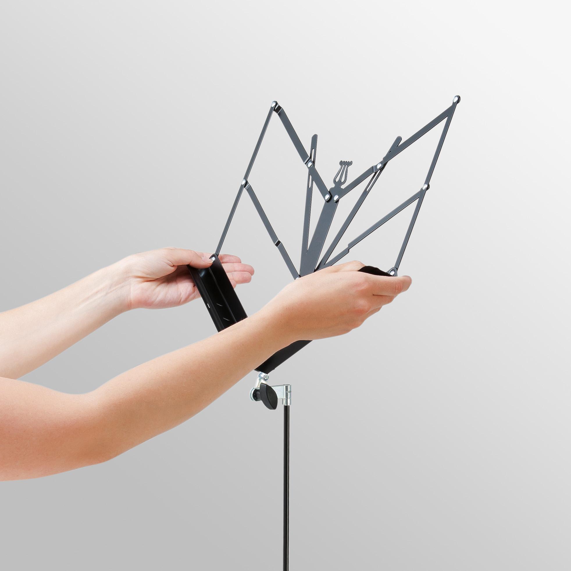 Three Piece Folding Music Stand Black K/&M 10040