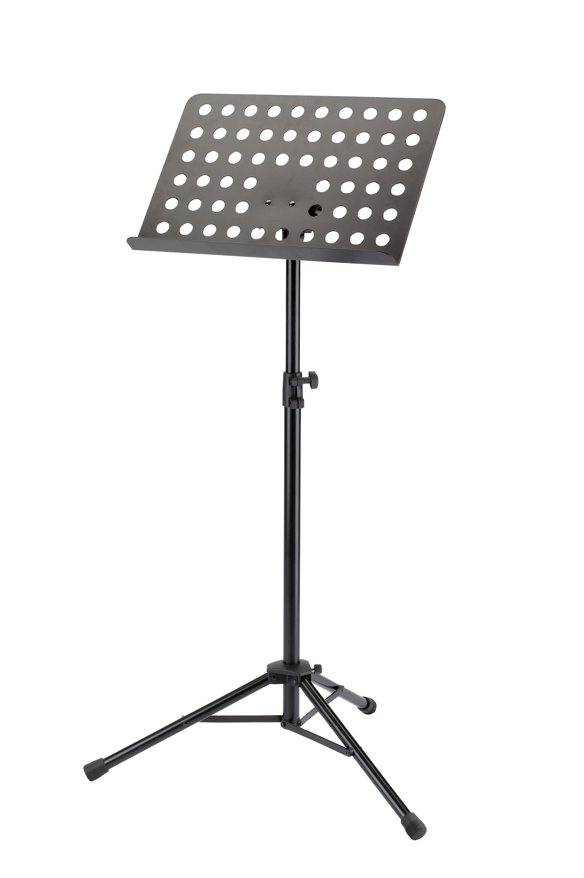 Stativ verchromt Holzplatte schwarz König /& Meyer 118//4 Orchesternotenpult