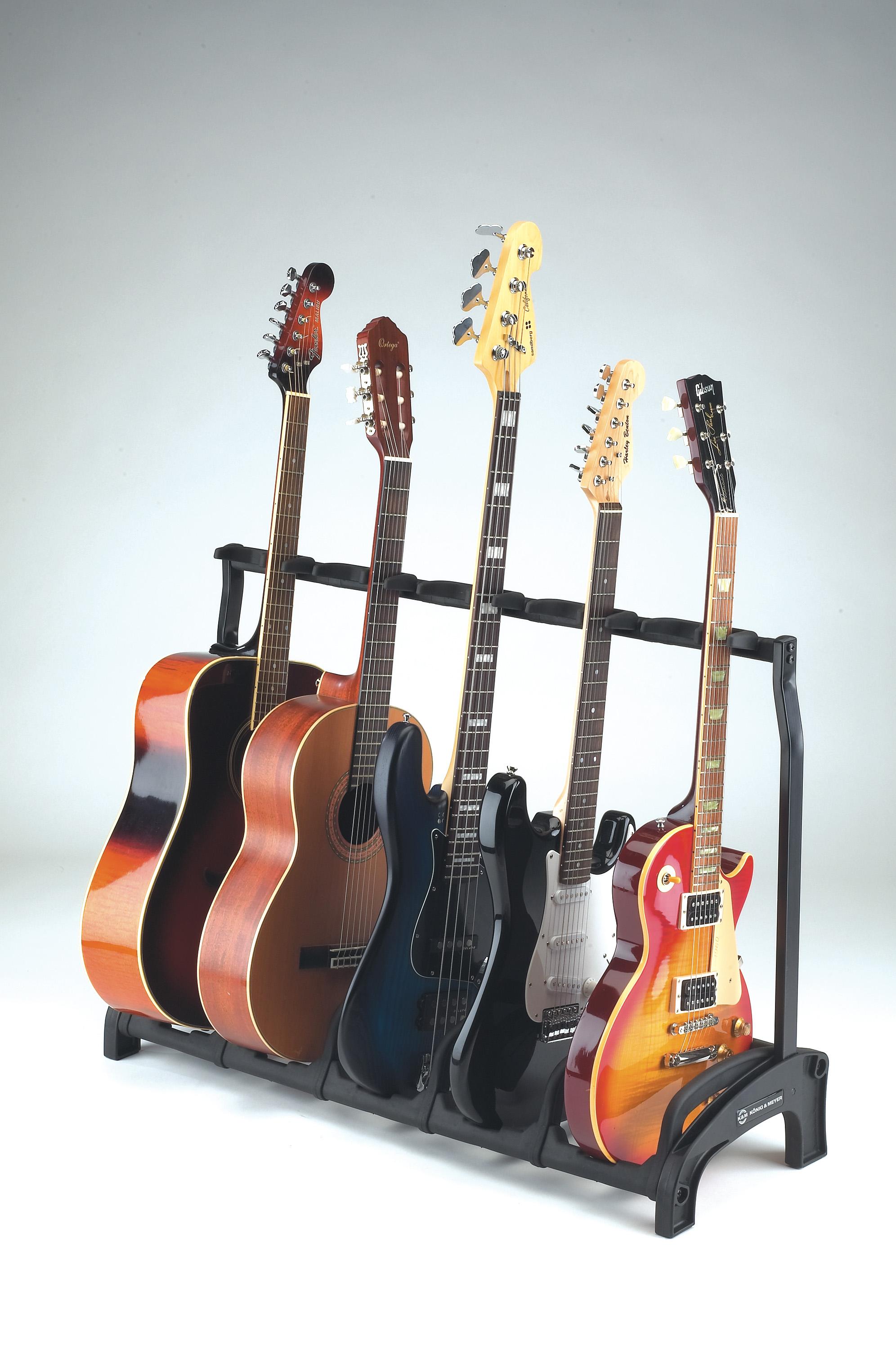 K/&M 17540 Gitarrenständer für E-Gitarre transluzent E-Bass schwarz