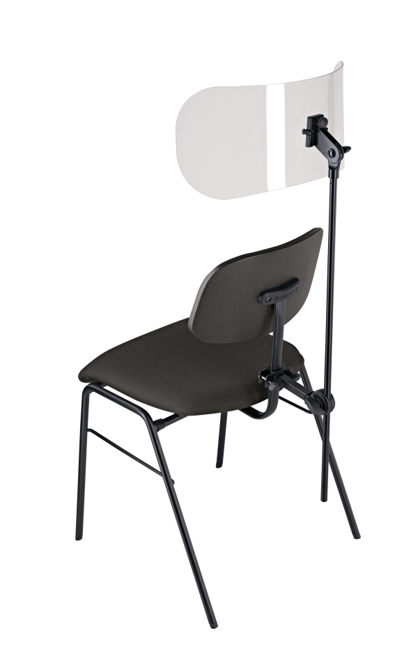 Sound insulation element for Orchestra seats with backrest