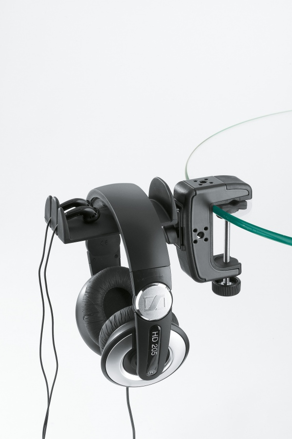 Headphone holder with table clamp