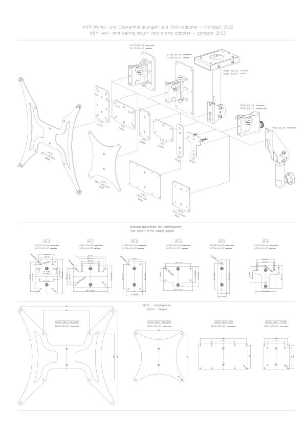Adapter plate VESA MIS-E 200